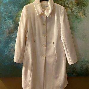 Winter White Mid-Length Coat